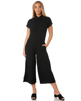 BLACK WOMENS CLOTHING THE BARE ROAD PLAYSUITS + OVERALLS - 992041-04BLK