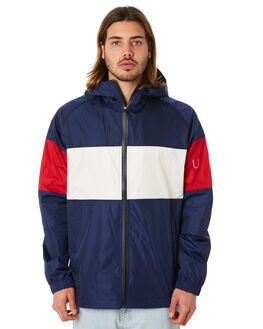 NAVY RED MENS CLOTHING HUFFER JACKETS - MJA83S3902NRED