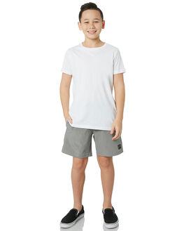STONE GREY KIDS BOYS RUSTY BOARDSHORTS - BSB0323SOG