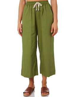 FOREST GREEN WOMENS CLOTHING THE BARE ROAD PANTS - 991041-07FOR