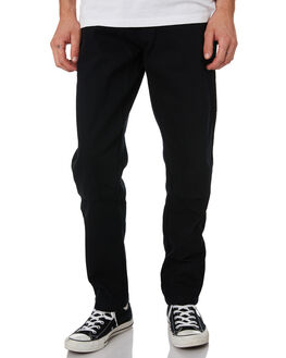 BLACK MENS CLOTHING DEUS EX MACHINA PANTS - DMF94905BLK
