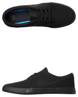 BLACK BLACK MENS FOOTWEAR NIKE SKATE SHOES - SS880268-001M