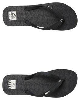 BLACK WHITE MENS FOOTWEAR REEF THONGS - 218BLW