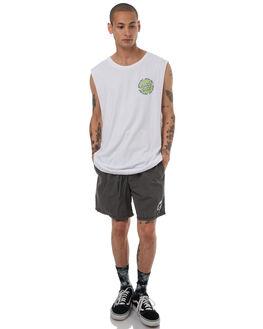 WHITE GREEN MENS CLOTHING SANTA CRUZ SINGLETS - SC-MTD7685WHT