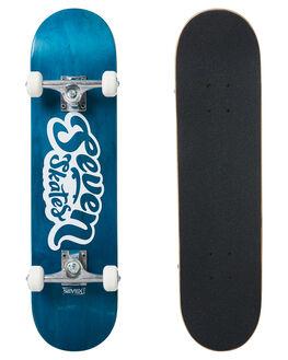 BLUE BOARDSPORTS SKATE SEVEN SKATEBOARDS COMPLETES - SVNCOMP1205BLUE