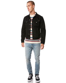 DRY BLACK MENS CLOTHING NUDIE JEANS CO JACKETS - 160550B26
