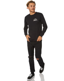 BLACK MENS CLOTHING DEUS EX MACHINA TEES - DMF71679BBLK