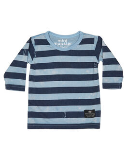 WASHED BLUE KIDS BABY MUNSTER KIDS CLOTHING - MI182TL01WBLU