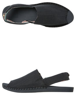 BLACK WOMENS FOOTWEAR REEF SLIP ONS - A3VBSBK2
