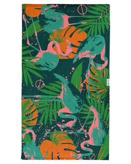 GREEN WOMENS ACCESSORIES LEUS TOWELS TOWELS - 01PRFLOGRGRN