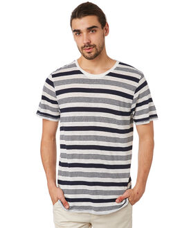 NAVY WHITE OUTLET MENS ACADEMY BRAND TEES - 19S405NVYW