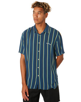 NAVY VERT STRIPE MENS CLOTHING BARNEY COOLS SHIRTS - 305-CC3NVYST