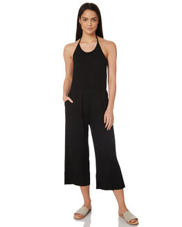 BLACK WOMENS CLOTHING JORGE PLAYSUITS + OVERALLS - 8320074BLK