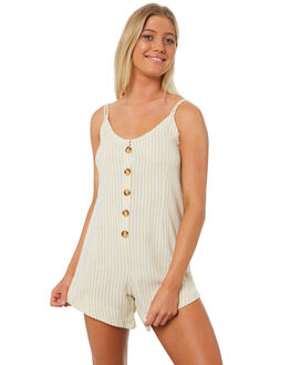 LATTE STRIPE WOMENS CLOTHING THE BARE ROAD PLAYSUITS + OVERALLS - 992041-02LATS