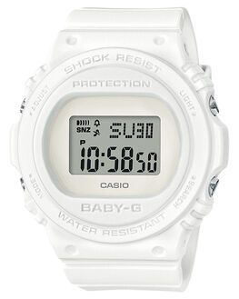 WHITE WOMENS ACCESSORIES BABY G WATCHES - BGD570-7DWHT