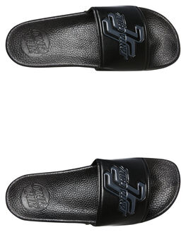 BLACK MENS FOOTWEAR SANTA CRUZ SLIDES - SC-MYC8086BLK