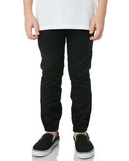 BLACK KIDS BOYS VOLCOM PANTS - C1231803BLK