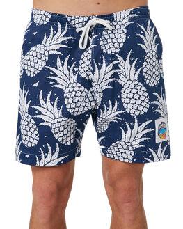 NAVY MENS CLOTHING OKANUI BOARDSHORTS - OKSOPNNVNVY