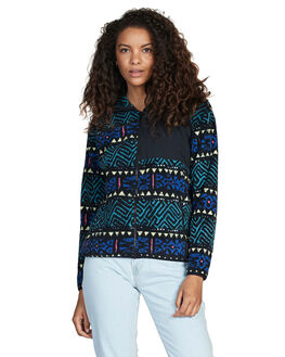 BLACK SHARK TOOTH WOMENS CLOTHING QUIKSILVER JUMPERS - EQWFT03003-KVJ6