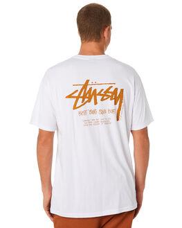 WHITE MENS CLOTHING STUSSY TEES - ST091000WHT