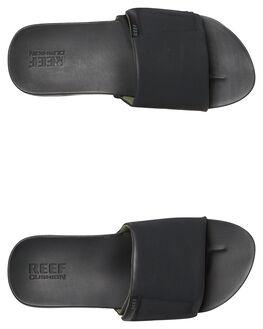 BLACK MENS FOOTWEAR REEF SLIDES - A3OL5BLA