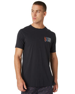 SMOKEY BLACK MENS CLOTHING ZANEROBE TEES - 113-WORD-SMBLK