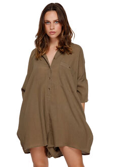 CADET GREEN WOMENS CLOTHING RVCA PLAYSUITS + OVERALLS - R291751CGRN
