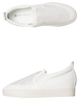 WHITE WOMENS FOOTWEAR BETTY BASICS SNEAKERS - BB904H18WHT