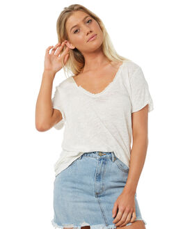 IVORY WOMENS CLOTHING FREE PEOPLE TEES - OB7787431103