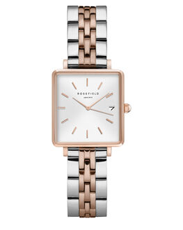 SILVER ROSE GOLD WOMENS ACCESSORIES ROSEFIELD WATCHES - QMWSR-Q022SILRG