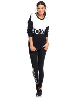 TRUE BLACK WOMENS CLOTHING ROXY JUMPERS - ERJFT04047-KVJ0