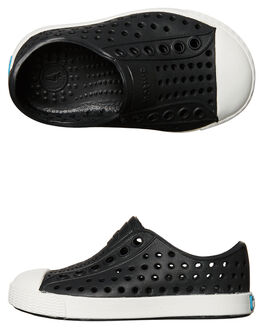 BLACK SHELL WHITE KIDS BOYS NATIVE FOOTWEAR - 13100100-1105