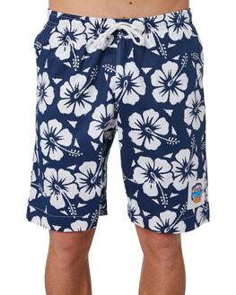 NAVY MENS CLOTHING OKANUI BOARDSHORTS - OKBOHBNVNVY