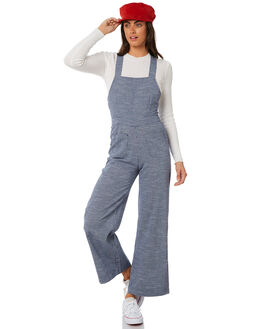 NAVY MINI CHECK WOMENS CLOTHING ROLLAS PLAYSUITS + OVERALLS - 127644003