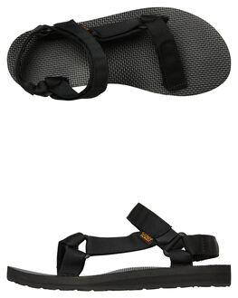 BLACK WOMENS FOOTWEAR TEVA FASHION SANDALS - T1003987BLK