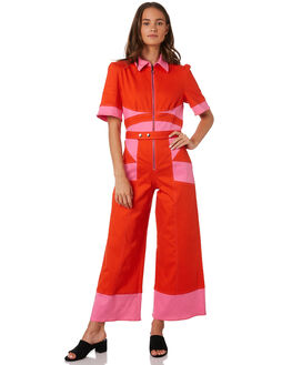 BERRY SPICY WOMENS CLOTHING THE EAST ORDER PLAYSUITS + OVERALLS - EO190627JSBERRY