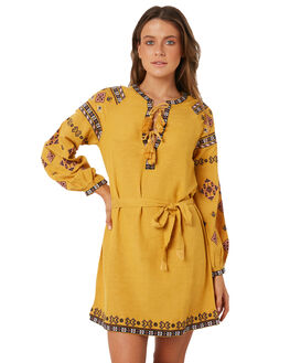 MUSTARD WOMENS CLOTHING TIGERLILY DRESSES - T381410MUS