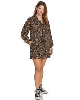 ANIMAL PRINT WOMENS CLOTHING VOLCOM DRESSES - B1331909PANM