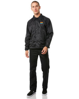 BLACK MENS CLOTHING PASS PORT JACKETS - R23REPCOACHBLK