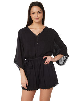BLACK WOMENS CLOTHING JORGE PLAYSUITS + OVERALLS - 8320056BLK