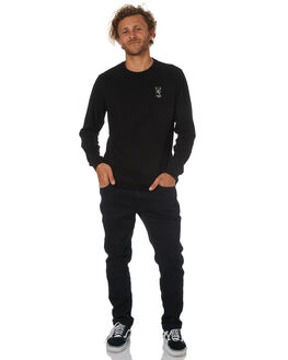 BLACK MENS CLOTHING SWELL TEES - S5184110BLK