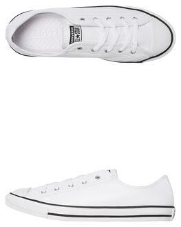 WHITE WOMENS FOOTWEAR CONVERSE SNEAKERS - 564984WHT
