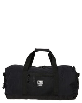 BLACK MENS ACCESSORIES OBEY BAGS + BACKPACKS - 100010112BLK