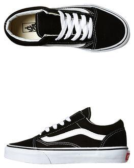 BLACK WHITE KIDS BOYS VANS FOOTWEAR - VN-0W9T6BTBKWH