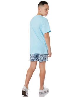 LIGHT BLUE KIDS BOYS OKANUI BOARDSHORTS - KSP19SW02LTBLU