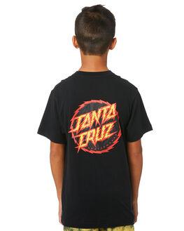 BLACK KIDS BOYS SANTA CRUZ TOPS - SC-YTC9222BLK