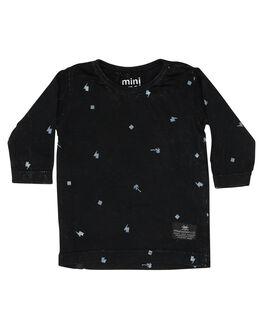 WASHED BLACK KIDS BABY MUNSTER KIDS CLOTHING - MI182TL03WBLK