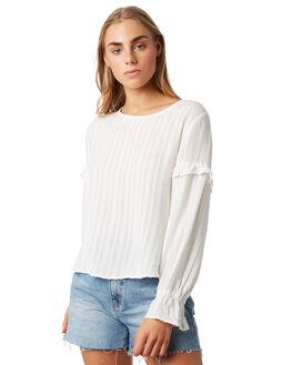 WHITE WOMENS CLOTHING ELWOOD FASHION TOPS - W93314-653