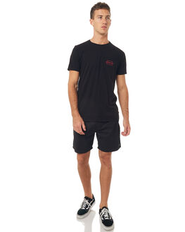 BLACK MENS CLOTHING SWELL BOARDSHORTS - S5164231BLK