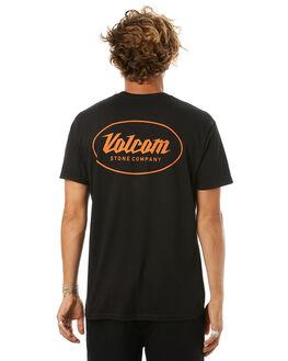 BLACK MENS CLOTHING VOLCOM TEES - A35417D0BLK